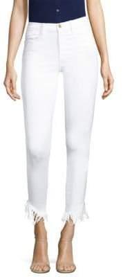 Frame Le High Skinny Shredded Jeans