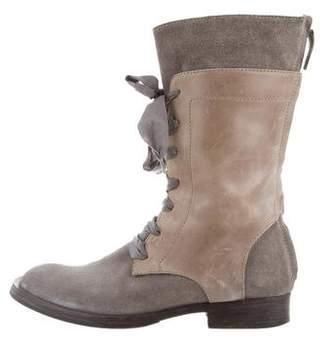 Brunello Cucinelli Suede Mid-Calf Boots