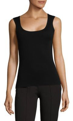 Michael Kors Collection Supercashmere Scoopneck Tank Top
