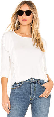 Bobi Ruffle Long Sleeve Tee