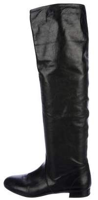 Prada Leather Knee-Length Boots