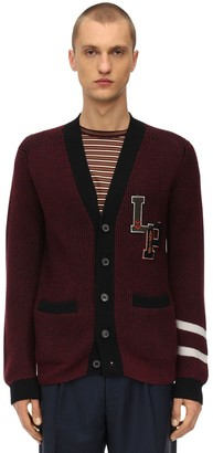 Lanvin Logo Wool College Cardigan