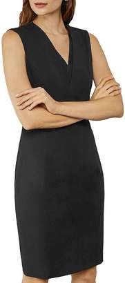 Ted Baker Saloted Working Title Contrast Neck Sheath Dress
