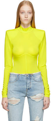 Unravel Yellow Spalling Bodysuit