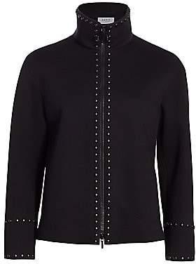 Akris Punto Women's Standup Collar Studded Jacket