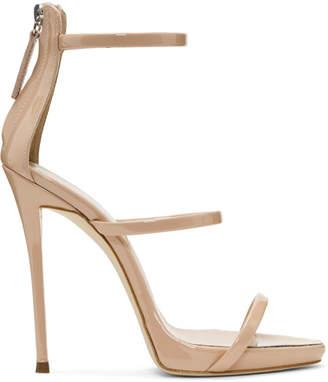 Giuseppe Zanotti Pink Coline Three-Strap Sandals