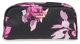 Kate Spade New York 'Classic Berrie' Floral Cosmetics Case $68 thestylecure.com