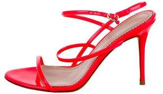 Jean-Michel Cazabat Patent Leather Ankle Strap Sandals