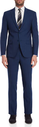 Calvin Klein Two-Piece Blue Slim Fit Suit
