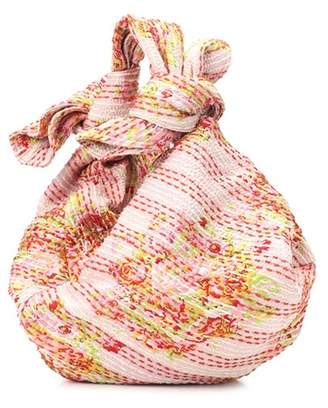 Simone Rocha Leather-lined jacquard tote