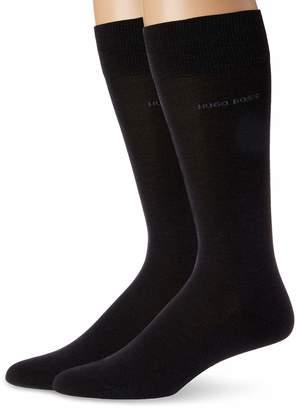 HUGO BOSS Men's 2-Pack Solid Mercerized Cotton Dress Sock