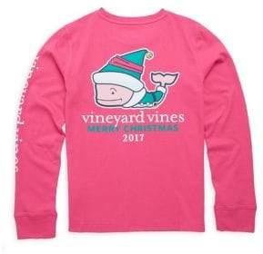 Vineyard Vines Toddler's, Little Girl's& Girl's Christmas Elf Whale Cotton Tee