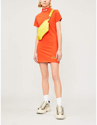 Heron Preston Logo-embroidered cotton-jersey mini dress