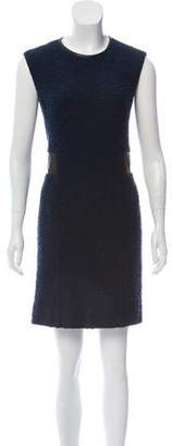 Rebecca Taylor Leather-Accented Sleeveless Dress