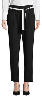 Calvin Klein Belted Straight Leg Pants