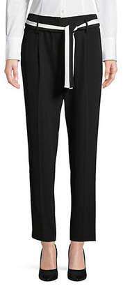 Calvin Klein Belted Straight Leg Pants