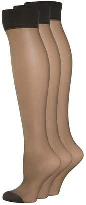Evans 3 Pack Nearly Black Knee High Tights
