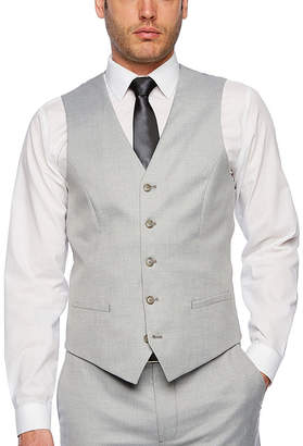 Jf J.Ferrar Light Gray Slim Fit Suit Vest