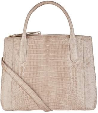 Nancy Gonzalez Nix Crocodile Double Zip Tote Bag