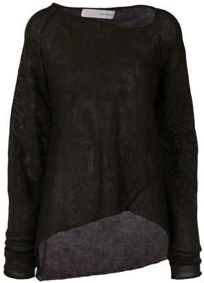 Isabel Benenato sheer sweater