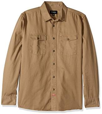 Brixton Men's Olson Relaxed Fit Long Sleeve Woven Shirt
