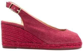 Castaner slingback peep toe sandals