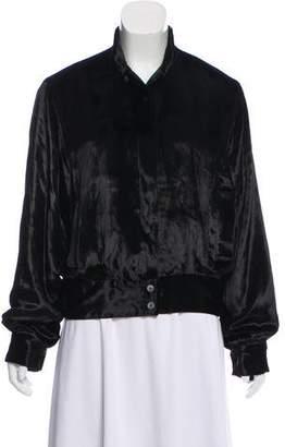 Tamara Mellon Stand Collar Button-Up Jacket