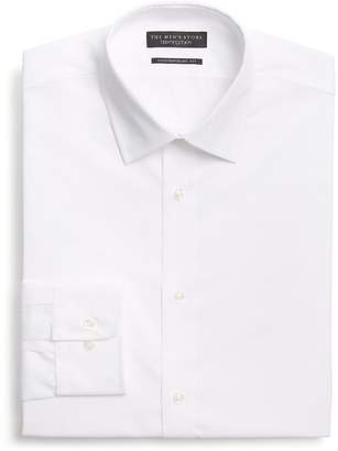 Bloomingdale's The Men's Store at Basic White Regular Fit Dress Shirt - 100% Exclusive
