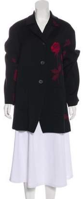 Dries Van Noten Floral Wool Coat