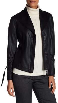 Max Studio Oversized Collar Moto Jacket