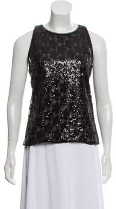 Chanel Floral Sequined Top Black Floral Sequined Top