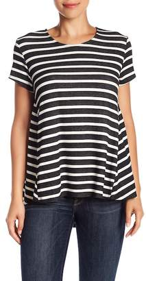 Blvd Short Sleeve Stripe Knit Tee