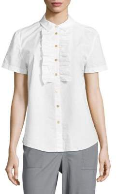 Cotton Button-Down Blouse