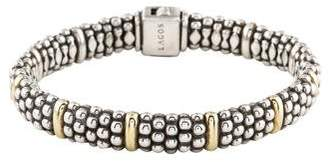 Lagos Two-Tone Beaded Bracelet