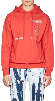 Helmut Lang Seen By Shayne Oliver Men's Puppy-Print Cotton-Blend Terry Hoodie