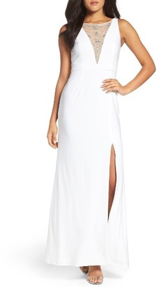 Women's Adrianna Papell Embellished V-Neck Gown $179 thestylecure.com