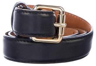 Louis Vuitton Leather Buckle Belt
