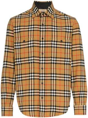 Burberry Flannel Vintage Checked Shirt