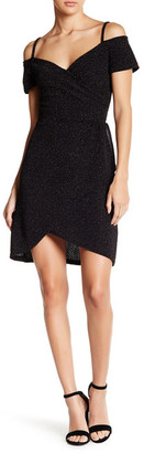 Angie Cold Shoulder Faux Wrap Dress $44 thestylecure.com