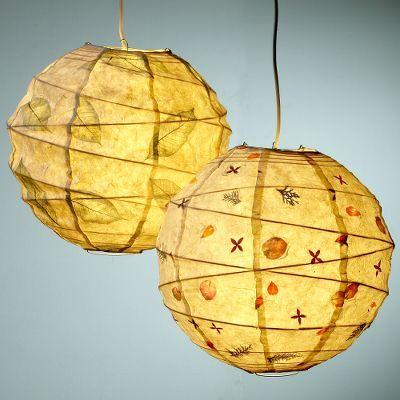 Round Botanical Paper Lanterns