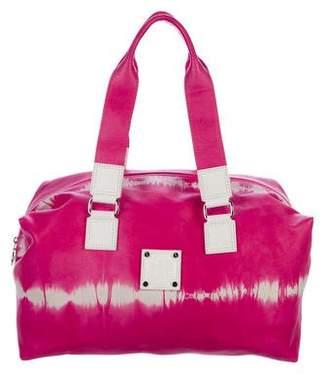 Longchamp Tie-Dye Printed Leather Duffel Bag