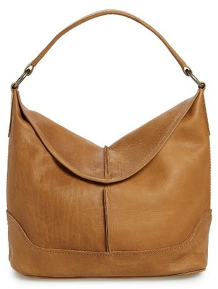 Frye Cara Leather Hobo Bag - Beige $398 thestylecure.com