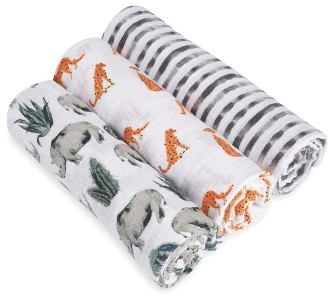 Aden + Anais 3-Pack Classic Swaddling Cloths 7