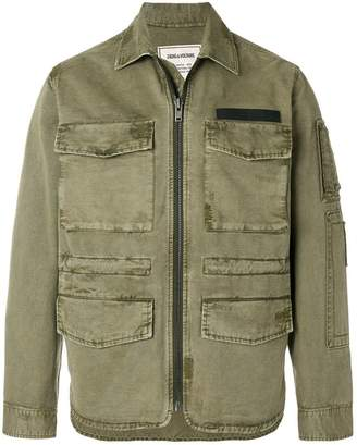 Zadig & Voltaire zipped fitted jacket