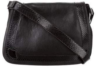 Cartier Snakeskin-Trimmed Messenger Bag