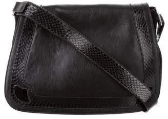Cartier Snakeskin-Trimmed Messenger Bag