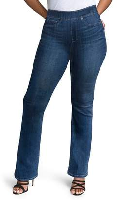 NYDJ CURVES 360 BY Pull-On Skinny Bootcut Jeans
