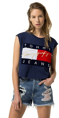 Tommy Jeans Cropped Muscle Tee $49.50 thestylecure.com