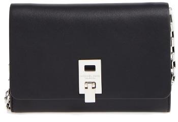MICHAEL Michael KorsWomen's Michael Kors Medium Miranda Leather Wallet On A Chain - Black