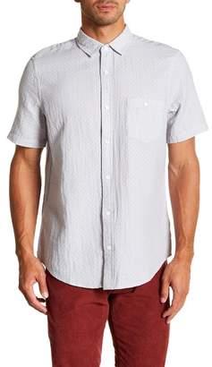 WALLIN & BROS Dobby Short Sleeve Slim Fit Shirt